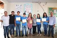 Câmara Municipal participa das homenagens aos alunos de Lagamar que participaram da Olimpíada Internacional de Matemática na China