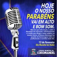 Dia mundial do Rádio.