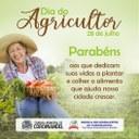 Parabéns Agricultor É graças a dedicação de cada trabalhador do campo que a agricultura brasileira é uma das mais fortes do mundo.